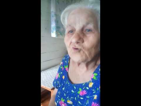 Бабушка рассказывает стих на немецком