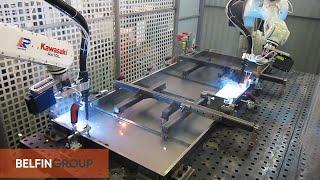 Роботы для сварки дверей(Очередной успешный проект по роботизации дуговой сварки при производстве металлических дверей. В состав..., 2015-07-31T08:00:50.000Z)