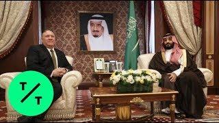 Pompeo Meets King Salman and Crown Prince Mohammed bin Salman in Saudi Arabia