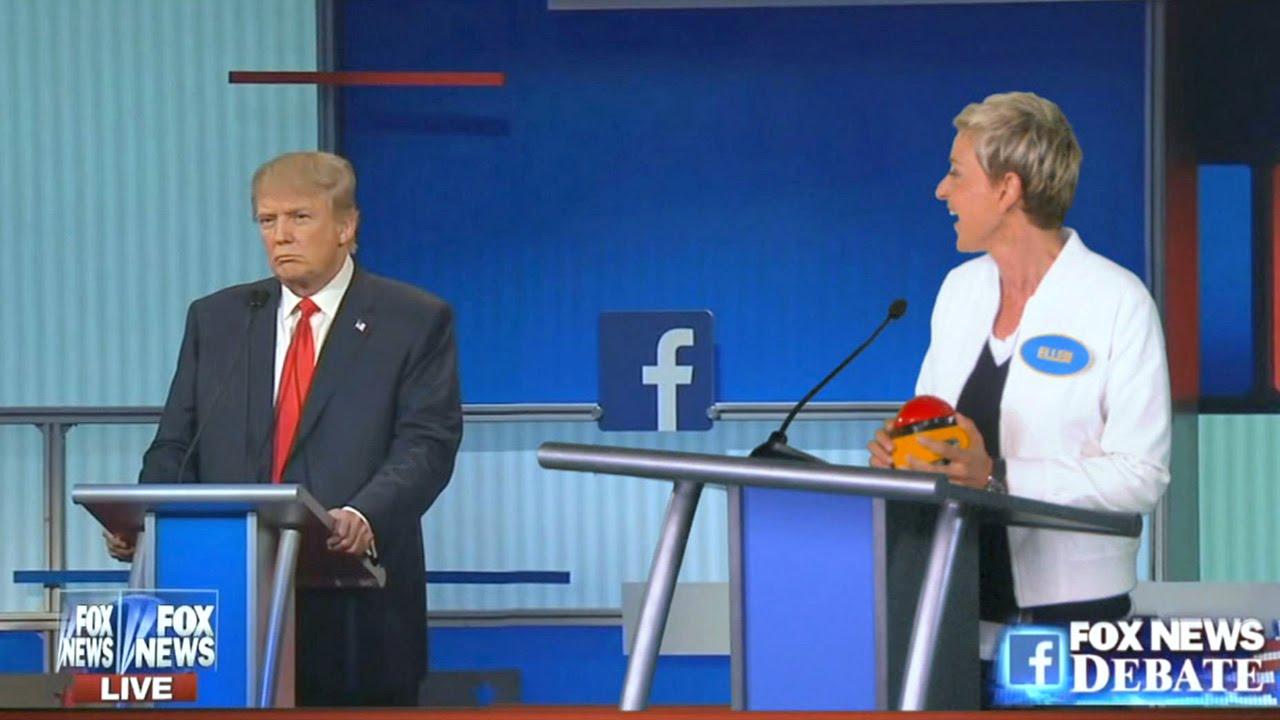 b9b757329808 Ellen at the Republican Debate - YouTube