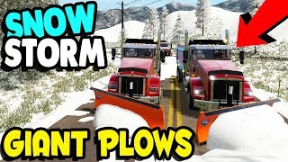MASSIVE SNOW STORM CLEAN-UP | Farming Simulator 17 Multiplayer Gameplay