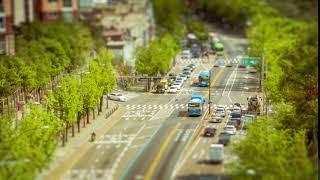 Трафика Корея Сеул Город Пейзаж Путешествия Азия / Видео