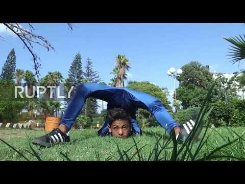 State of Palestine: Young Gazan acrobat hopes to roll into Guinness World Record