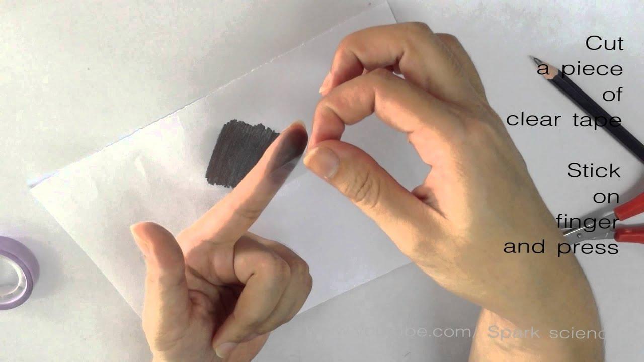 How to make fingerprint  Spark Science Homemade  YouTube