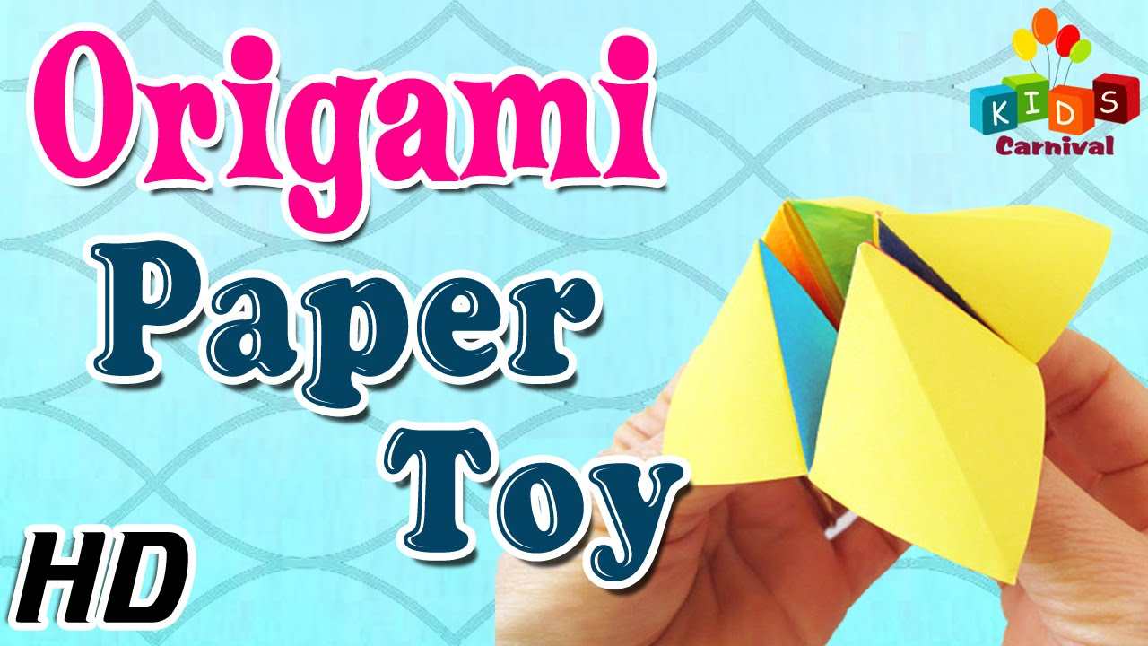 Origami How To Make Paper Toy Simple Tutorials In English Youtube