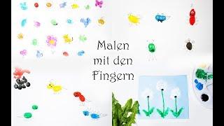 50+ Ideen zum Malen mit den Fingern: Tiere, Dinos, Monster, Blumen, Fahrzeuge und viel mehr!