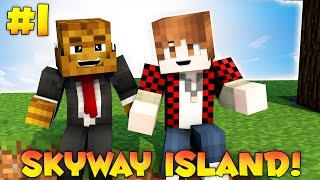 "Minecraft SKYWAY ISLAND Survival Map ""BONEHEAD ZOMBIES"" #1 w/ JeromeASF & BajanCanadian"