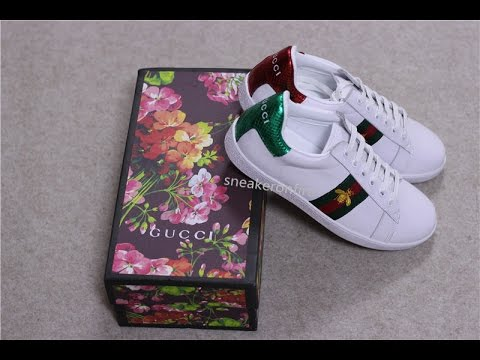 21bd714f395 Gucci  Ace Embroidered Low---Top Sneaker - YouTube