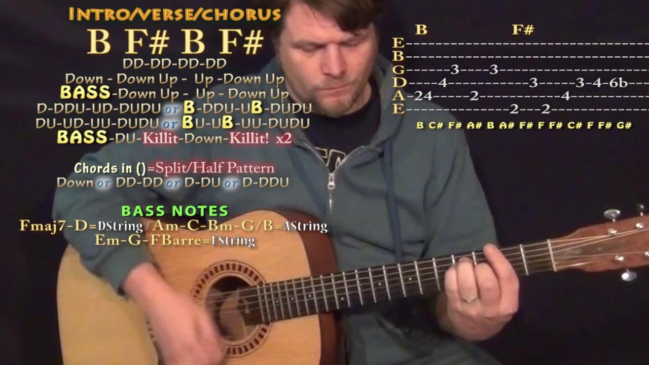 Congratulations Post Malone Guitar Lesson Chord Chart B F Youtube
