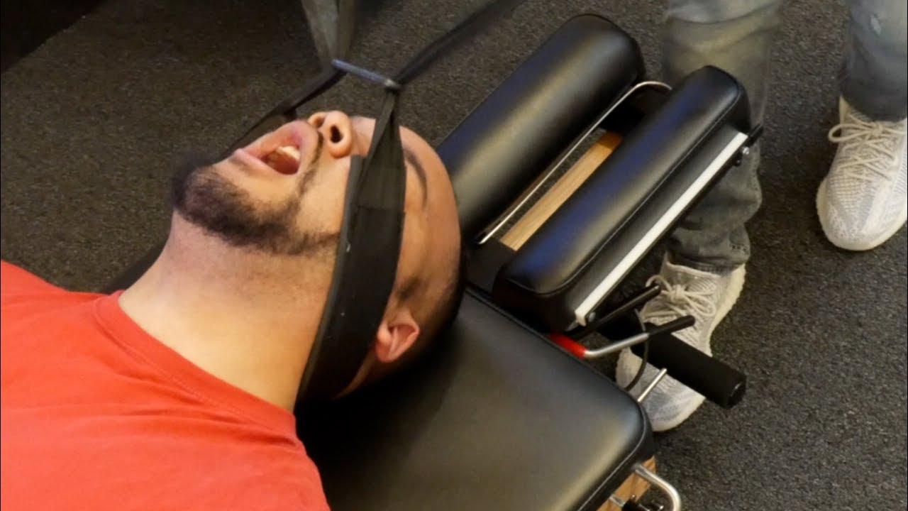 Self Cracker  Screams In-shock  After First Chiropractic Adjustment Y-strap