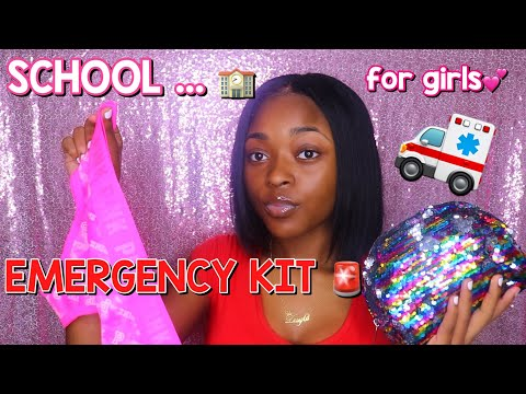 BACK TO SCHOOL 2019 : EVERYTHING YOU NEED IN YOUR EMERGENCY SCHOOL KIT ( for girls) | DAYLAWEBSTER