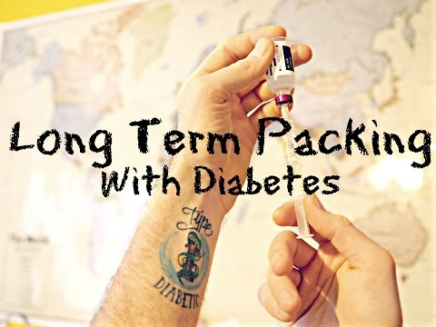Long-Term Travel Packing with Diabetes
