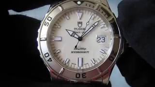 Tudor Hydronaut Ref.89190 07 serial  Ivory Dial Stainless Steel Automatic Watch Function Testing