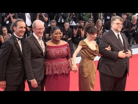 Guillermo del Toro, Octavia Spencer and more on the red carpet for the Premiere of The Shape of Wate