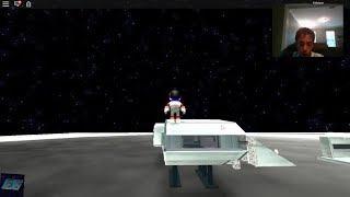 Evan Gamer24 Roblox ride a rocket to the ISS and ride a spaceship to the moon