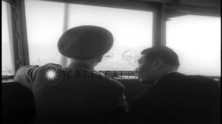 Lieutenant General Chiang Kai-Shek aboard US Navy aircraft carrier USS Wasp under...HD Stock Footage