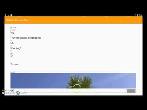 Multiple Sclerosis Chat App Demonstration ( Developer Andy C )