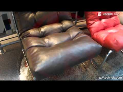 Fauteuil Design ISERE En Simili Cuir Marron YouTube - Fauteuil cuir marron design