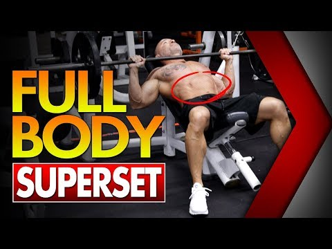 Full Body SUPERSET Workout For Fat Loss
