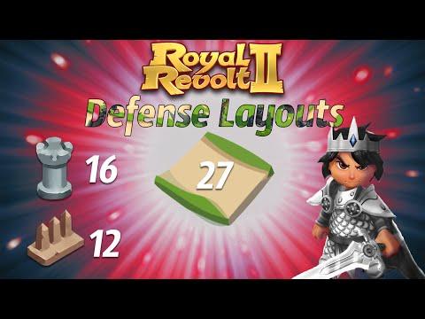 Royal Revolt 2 - Defense Layouts Level 8 [Medium]