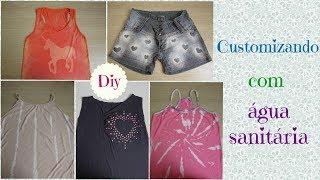 5 ideias para customizar roupas usando água sanitária