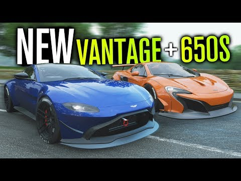 NEW 2018 Aston VANTAGE & WIDEBODY McLaren 650S Spider! | Forza Horizon 4 thumbnail