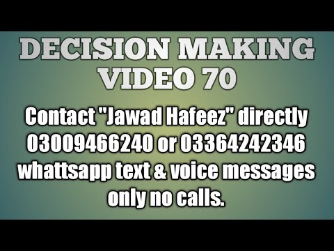 Decision making video 70