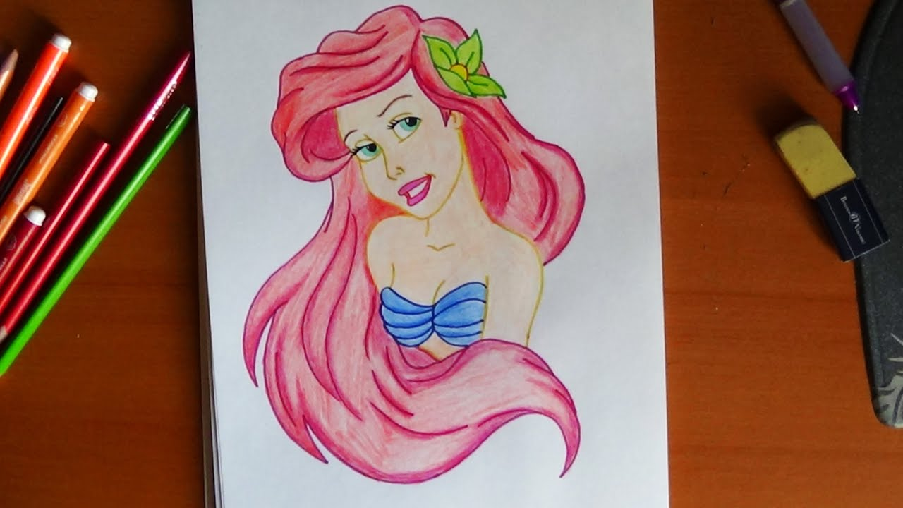 How to draw ariel the little mermaid como dibujar a la sirenita how to draw ariel the little mermaid como dibujar a la sirenita youtube sciox Gallery