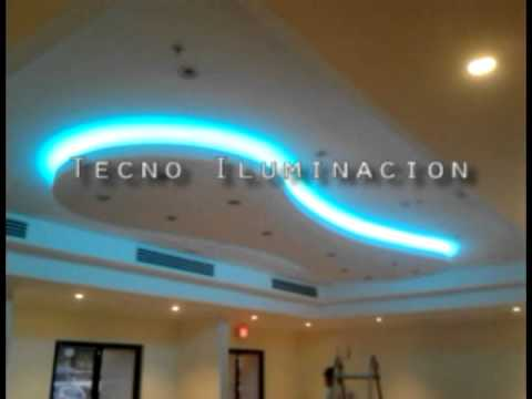 ILUMINACION LED RGB EN TECHO  YouTube