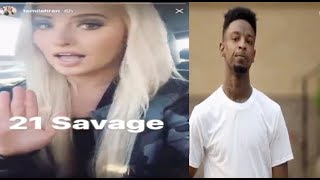 Tomi Lahren sparks another Twitter Debate after defending Trump and RAPPING to 21 SAVAGE 🙄