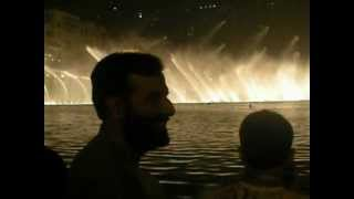 Dubai Fountain Show on Hindi song. Ossam, Khizer, Sabir and David....12 April 2012