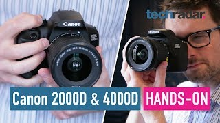 Canon EOS 2000D & 4000D hands-on review