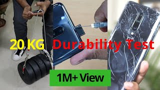 OnePlus 7 Pro Drop Test | POP UP Camera DURABILITY Test 20 KG Weight | WaterProof Test | Hindi