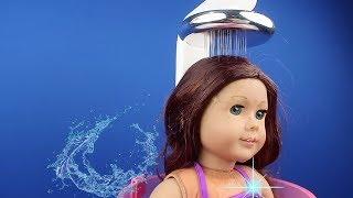 Oyuncak Bebeğim: American Girl gerçek su akıtan banyo setinde duş yaptı sular kesildi BidünyaOyuncak