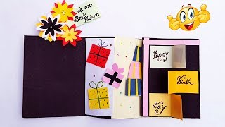 Birthday scrapbook greeting card | Cutest Birthday Scrapbook | How to make Scrapbook ideas