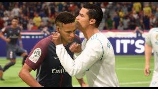 [HD] Neymar vs Real Madrid - Gameplay FIFA 18 Solo Legend