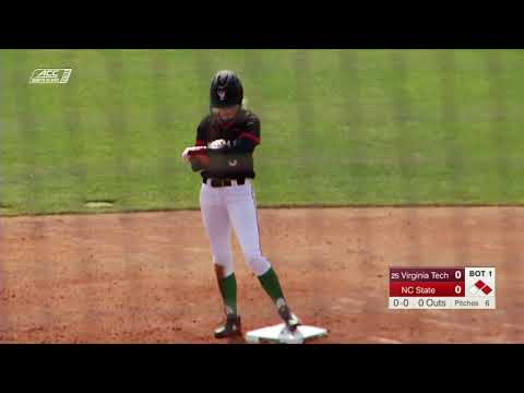 NCAA Softball 2019 :#25 Virginia Tech Vs  NC State Game 3 Mar 17