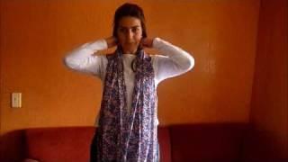 Cómo usar pashminas, chalinas, chales,etc. por Florinda