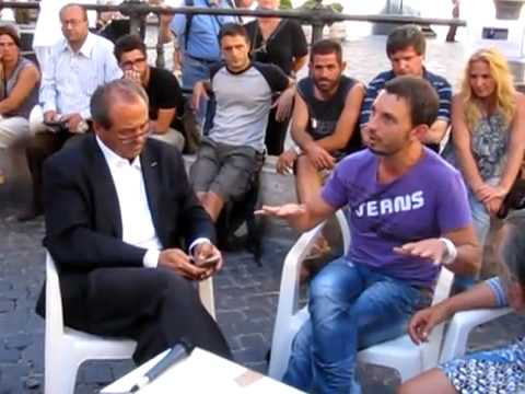Sciopero della fame in Piazza Montecitorio