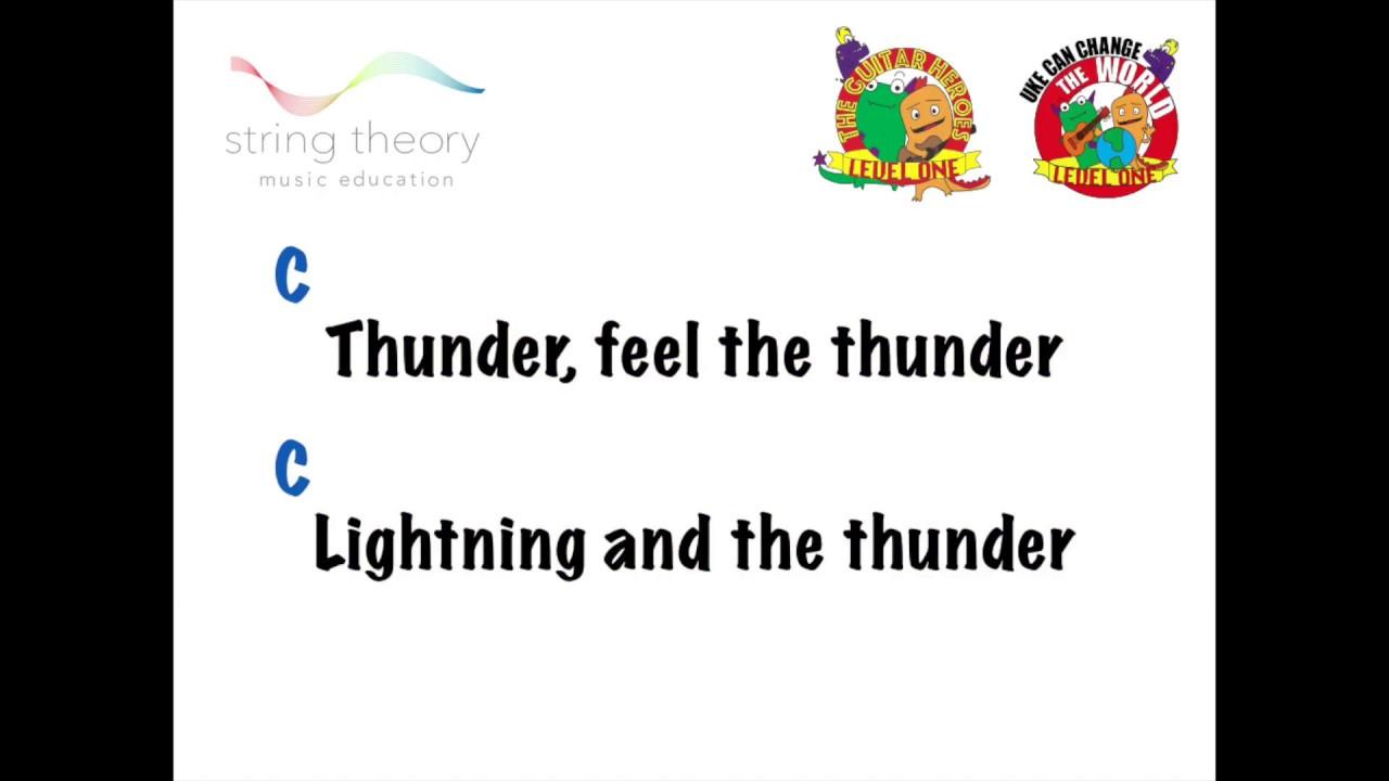 Thunder Imagine Dragons Play Along Guitar Ukulele Youtube