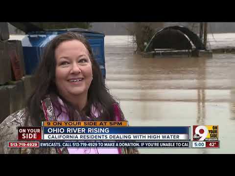 Ohio River rising