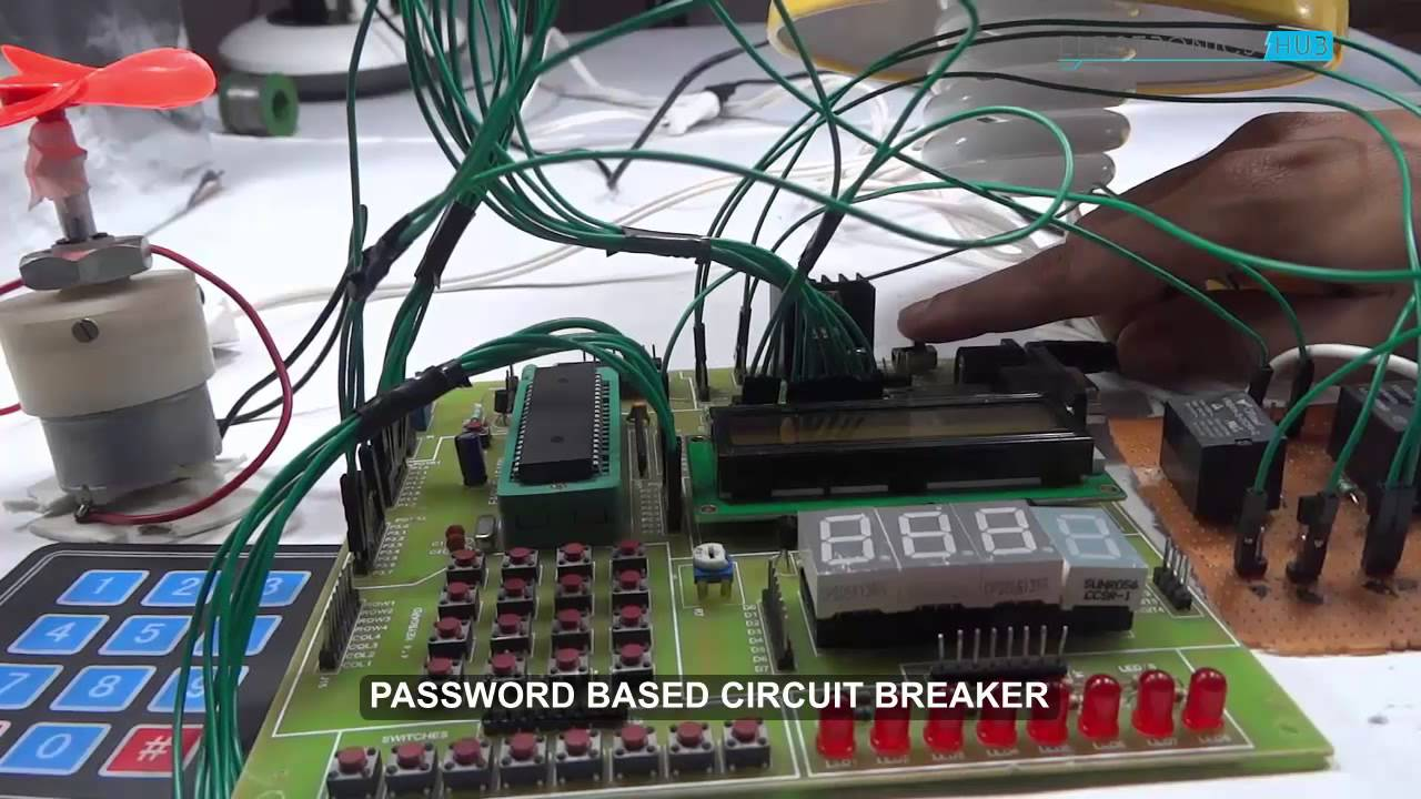 Password Based Circuit Breaker Using 8051 Microcontroller Youtube Diagram Shows The Required