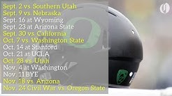 Oregon Ducks 2017 football schedule highlights