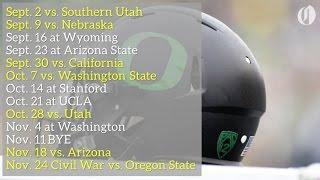 Oregon Ducks 2017 football schedule highlights