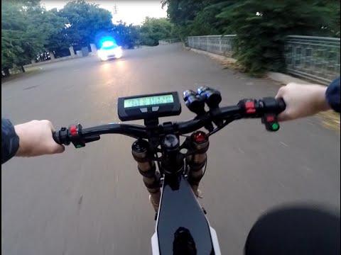 Электровелосипед 4000W. Утренняя прогулка по городу.