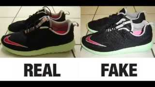 How To Spot Fake Nike Roshe Run FB Yeezy Trainers. Real vs Fake Comparison.