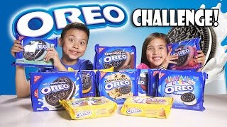 OREO CHALLENGE!!! The Blindfold Cookie Tasting Game Show!(This video is NOT part of a paid promotion. We have no arrangement with Oreo, Nabisco, or any of its subsidiaries. It was created solely for our entertainment ..., 2015-01-31T16:06:02.000Z)