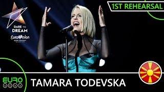 NORTH MACEDONIA EUROVISION 2019 1ST REHEARSAL (REACTION) : Tamara Todevska - 'Proud'