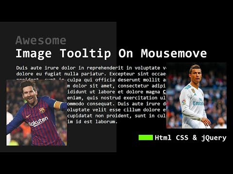 Awesome Image Tooltip On Mousemove | Html CSS & JQuery