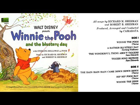 Winnie the Pooh and the Blustery Day (1968) Disneyland Book and Record